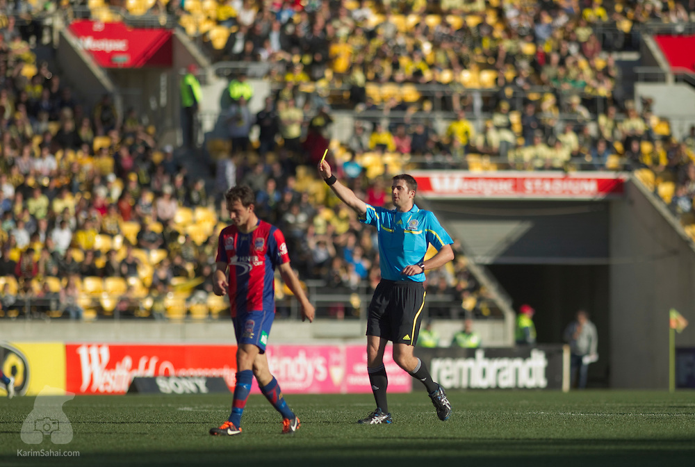 WELLINGTON 16 October 2011. The Wellington Phoenix battle Newcastle Jets at Westpac Stadium, in their first home match of the 2011-2012 Hyundai A-League season. It is the Phoenix' second game under new management - Wellnix Ltd - since Terry Seperisos relinquished the playing licence held by his Century City Football company.