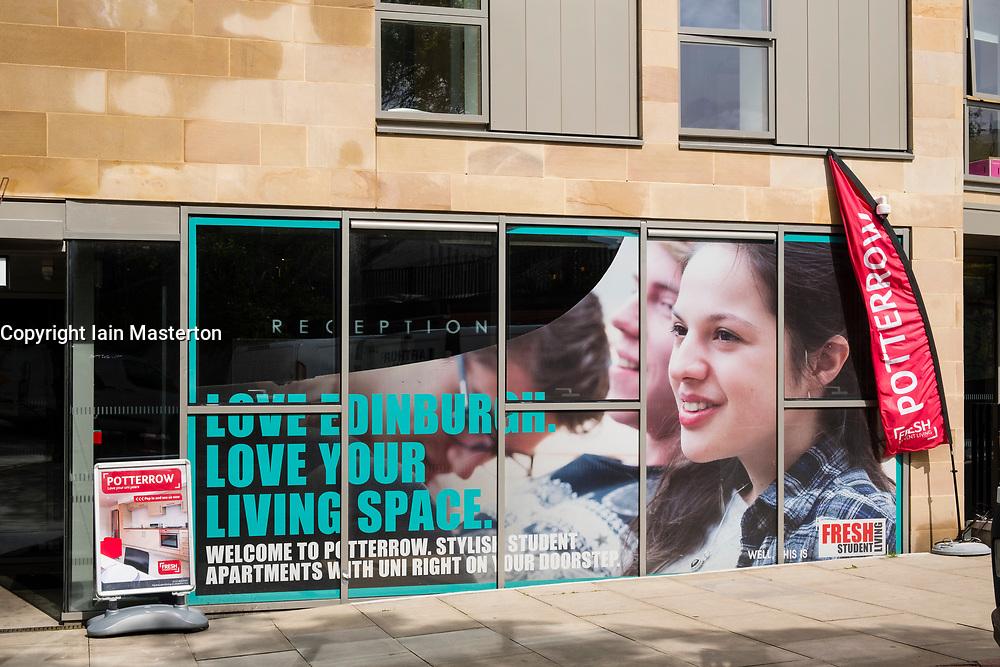 Modern student accomodation building at Potterrow in University of Edinburgh in Scotland, United Kingdom