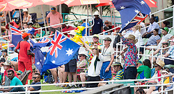 Durban. 040318. Fans during day 4 of the 1st Sunfoil Test match between South Africa and Australia at Sahara Stadium Kingsmead on March 04, 2018 in Durban, South Africa. Picture Leon Lestrade/African News Agency/ANA