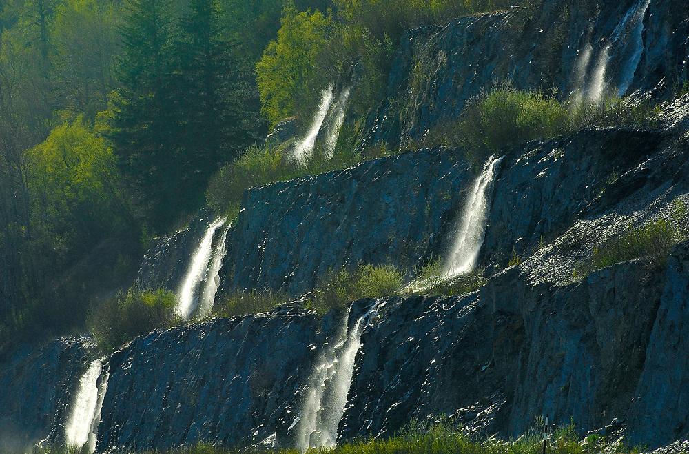 Alaska pristine waterfalls.