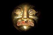 PERU, PREHISPANIC, GOLD Mochica; Lord of Sipan artifact
