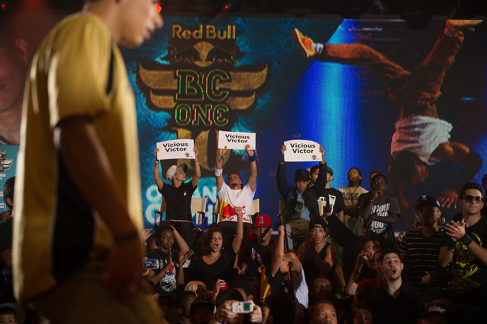 """B-boy """"Vicious"""" Victor Winning  at RedBull BCOne Cypher in Orlando, Florida on June 30th 2013."""