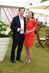 JAMIE MURRAY-WELLS and LAVINIA BRENNAN at the 2013 Cartier Queens Cup Polo at Guards Polo Club, Berkshire on 16th June 2013.