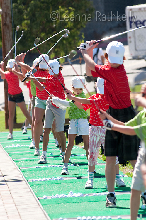 Kids participate in the Whistler Golf Club camp for Juniors.