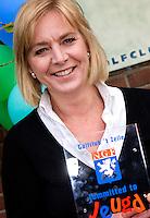 HENGELO (Gelderland) - Anja vd Torre (foto)  van Golfclub 't Zelle ontvangt zondag uit handen van Janke vd Werf van de NGF het Certificaat Committed to Jeugd. COPYRIGHT KOEN SUYK