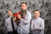 A portrait session with the Gruenig family, Wednesday Jan. 24, 2018 at their home in Louisville, Ky. (Photo by Brian Bohannon)