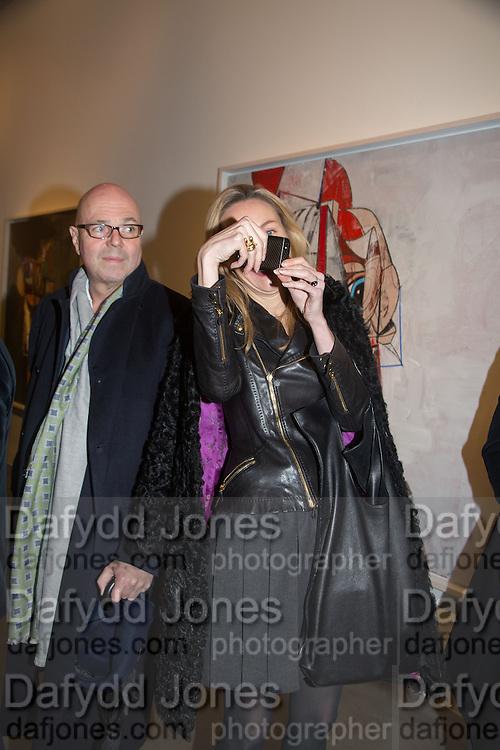 STEFFAN AHRENBERG; MICHAELA DE PURY, George Condo - private view . Simon Lee Gallery, 12 Berkeley Street, London, 10 February 2014