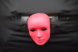 June 1, 2017 - SâO Paulo, São paulo, Brazil - Red masks, part of the activist group Rio de Paz's art installation of masks symbolizing Brazil's President Michel Temer and 594 Brazilian lawmakers, stand during a protest against corruption, political reforms and Temer's presidency in  the Paulista Avenue in Sao Paulo, Brazil, on Thursday, June 1, 2017. Brazil's unpopular President has held on to office for over a year after the impeachment of his predecessor, backed mostly by Congress and financial markets. Under the weight of new corruption allegations against him, that support is crumbling. (Credit Image: © Cris Faga via ZUMA Wire)
