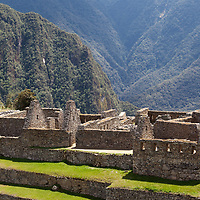 View of the residential section of Machu Picchu. Some houses were reconstructed like the original ones.