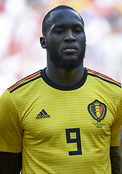 June 23, 2018 - Moscow, Russia - Romelu Lukaku of Belgium during the 2018 FIFA World Cup Group G match between Belgium and Tunisia at Spartak Stadium in Moscow, Russia on June 23, 2018  (Credit Image: © Andrew Surma/NurPhoto via ZUMA Press)