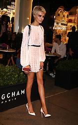 May 3, 2018 - New York City, New York, U.S. - Model CARA DELEVINGNE attends the Longchamp Fifth Ave Opening. (Credit Image: © Nancy Kaszerman via ZUMA Wire)