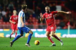 Aaron Wilbraham of Bristol City is closed down - Mandatory by-line: Dougie Allward/JMP - 05/11/2016 - FOOTBALL - Ashton Gate - Bristol, England - Bristol City v Brighton and Hove Albion - Sky Bet Championship
