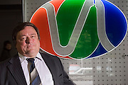 Moscow, Russia, 16/06/2006..Viktor Kolomets, Chief of the Analytical Department at Video International, who broker advertising slots for the major Russian television channels.