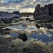 Hammarshagahällar på södra Gotland i soluppgången.<br /> PHOTO © Bernt Lindgren