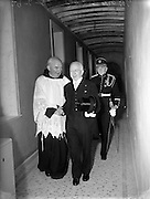 29/06/1952<br /> 06/29/1952<br /> 29 June 1952<br /> Sean T O'Ceallaigh arriving for the Dedication of the New Franciscan Church at Rossnowlagh, Co. Donegal.