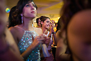 Bride and groom celebrate their wedding with family and friends at Canyon View Dining Hall in San Ramon, California, on November 11, 2016. (Stan Olszewski/SOSKIphoto)