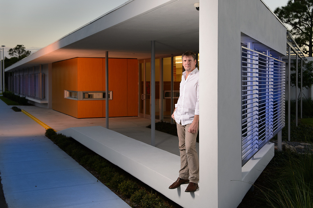 Architect Clint Larkan Portrait at one of his projects in Stuart Florida