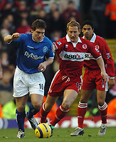 David Dunn (Birmingham) Ray Parlour (Middlesbrough) Birmingham City v Middlesbrough, FA Premiership, 26/12/2004. Credit: Back Page Images / Matthew Impey