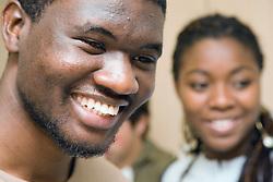 University students smiling,