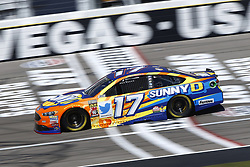 September 14, 2018 - Las Vegas, Nevada, United States of America - Ricky Stenhouse, Jr (17) brings his race car down the front stretch during practice for the South Point 400 at Las Vegas Motor Speedway in Las Vegas, Nevada. (Credit Image: © Chris Owens Asp Inc/ASP via ZUMA Wire)