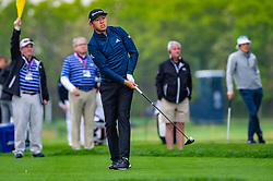 May 16, 2019 - Farmingdale, NY, U.S. - FARMINGDALE, NY - MAY 16: David Lipsky of the United States plays his shot from the first tee during Round One of the PGA Championship Tournament on May 16, 2019, at Bethpage State Park in Farmingdale, NY (Photo by John Jones/Icon Sportswire) (Credit Image: © John Jones/Icon SMI via ZUMA Press)