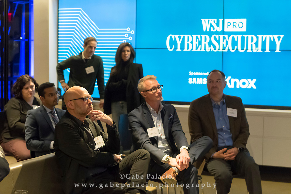 Audience at The WSJpro Cybersecurity event , in New York City on December 12, 2017. (photo by Gabe Palacio)