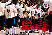 Dancing at traditional fiesta at Villaviciosa in Asturias, Northern Spain
