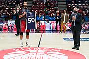 Datome Luigi Gandini<br /> AX Armani Exchange Milano De Longhi Treviso<br /> Legabasket Serie A UnipolSAI 2020/2021<br /> Milano, 04/10/2020<br /> Foto A.Giberti / Ciamillo-Castoria