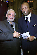 Chairman Jose Riveria and Londel McMillian  at the Swearing-in of the Honorable David A. Patterson at the 55th Governor of New York  at The New York State Capitol in the Assembly Chambers on March 17, 2008