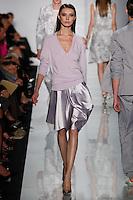 Olga Sherer wearing Micheal Kors Spring 2010 collection during Mercedes-Benz Fashion Week in New York, September 16, 2009