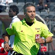 Referee's Mustafa Kamil ABITOGLU during their Turkish Superleague soccer match Kasimpasa between Bursaspor at the Recep Tayyip Erdogan stadium in Istanbul Turkey on Sunday 15May 2011. Photo by TURKPIX