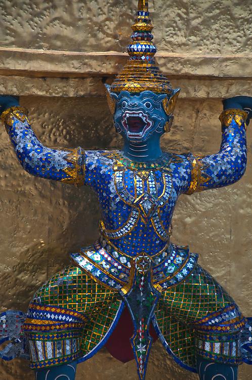 Blue dragon statue.