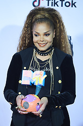 November 4, 2018 - Madrid, Madrid, Spain - Janet Jackson poses her Icon Globe Award in the press room during the 25th MTV EMAs 2018 held at Bilbao Exhibition Centre 'BEC' on November 4, 2018 in Madrid, Spain (Credit Image: © Jack Abuin/ZUMA Wire)