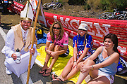 Spectators at the Amgen Tour of California, Santa Monica Mountains, California