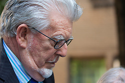 London, May 19th 2014. Celebrity entertainer Rolf Harris arrives at Southwark Crown Court as his trial on indecent assault against four girls aged between 7 and 19 continues.