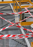 Industrial safety exclusion tape.<br /> <br /> For larger JPEGs and TIFF versions contact EFFECTIVE WORKING IMAGE via our contact page at : www.photography4business.com