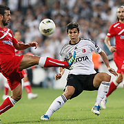 Besiktas's Necip UYSAL (C) during their Turkish superleague soccer match Besiktas between MP Antalyaspor at BJK Inonu Stadium in Istanbul Turkey on Sunday, 25 September 2011. Photo by TURKPIX