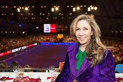 Fashion designer Reem Acra, title sponsor  of the<br /> Reem Acra FEI World Cup Dressage Kür<br /> London International Horse Show Olympia 2013<br /> © Hippo Foto - Jon Stroud