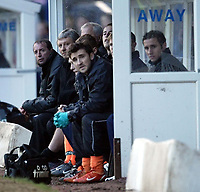 Photo. Aidan Ellis.<br /> Stockport County v Plymouth Argyle.<br /> Nationwide Division 2.<br /> 24/01/2004.<br /> Plymouth's manager Paul Sturrock and the rest of the bench