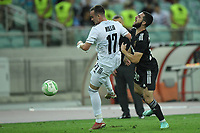 Abbas Huseynov (30) of Qarabag FK fights for the ball with Liam Millar (17) of FC Basel  during the UEFA Europa Conference League group H match between Qarabag FK and FC Basel at  on September 16, 2021 in Baku, Azerbaijan.