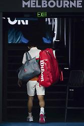 MELBOUREN, Jan. 23, 2019  Kei Nishikori of Japan leaves the court after the men's singles quarterfinals match against Novak Djokovic of Serbia at 2019 Australian Open in Melbourne, Australia, Jan. 23, 2019. (Credit Image: © Elizabeth Xue Bai/Xinhua via ZUMA Wire)