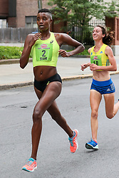Freihofer's 5K Run For Women<br /> 40th year Pro runner Diane Nukuri leads Sarah Pagano in the final stretch of the 5K race, moments before succumbing to a decisive move by Pagano to get the win.
