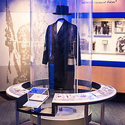 A hat and coat of the type often worn by Wilson on display at the Woodrow Wilson Presidential Memorial Exhibit and Learning Center in the Ronald Reagan Building in downtown Washington DC. The Memorial commemorates the 28th American president.