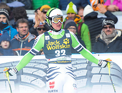 21.12.2013, Saslong, Groeden, ITA, FIS Ski Weltcup, Groeden, Abfahrt, Herren, im Bild Tobias Stechert (GER) // Tobias Stechert of Germany reacts in the finish Area during mens Downhill of the Groeden FIS Ski Alpine World Cup at the Saslong Course in Gardena, Italy on 2012/12/21. EXPA Pictures © 2013, PhotoCredit: EXPA/ Erich Spiess