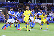 AFC Wimbledon defender Darius Charles (32) during the EFL Cup match between Peterborough United and AFC Wimbledon at ABAX Stadium, Peterborough, England on 9 August 2016. Photo by Stuart Butcher.