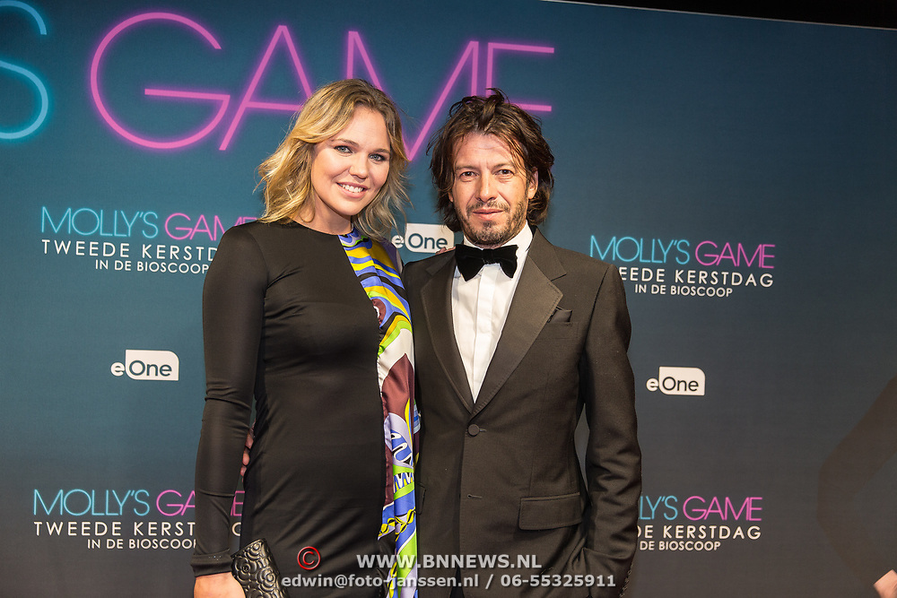 NLD/Amsterdam/20171212 - Première Molly's Game, Myrthe Mylius en partner Sebastian Schneberger