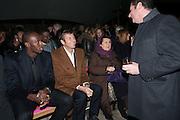 USAIN BOLT; JOCHEN ZEITZ; SUSY MENKES , Fundraising Gala for the Zeitz foundation and Zoological Society of London hosted by Usain Bolt. . London Zoo. Regent's Park. London. 22 November 2012.