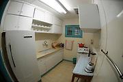 Israel, Negev desert, Kibbutz Sde Boker, Interior of Ben-Gurion Desert Home The Kitchen