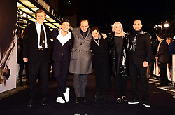 David Hare, Oleg Ivenko, Ralph Fiennes, Gabrielle Tana, Carolyn Marks Blackwood, and Ilan Eshkeri attending The White Crow UK Premiere held at the Curzon Mayfair, London.