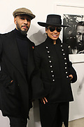 New York, NY-Jan. 11: (L-R) Producer/Recording Artist/Visual Artist Swizz Beatz and Recording Artist Alicia Keys  attends the Gordon Parks: I AM YOU Opening Reception presented by the Gordon Parks Foundation  held at the Jack Shanmain Gallery on January 11, 2018 in New York City.  (Photo by Terrence Jennings/terrencejennings.com)
